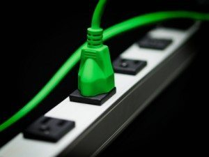 Electrical Plug in a Power Strip