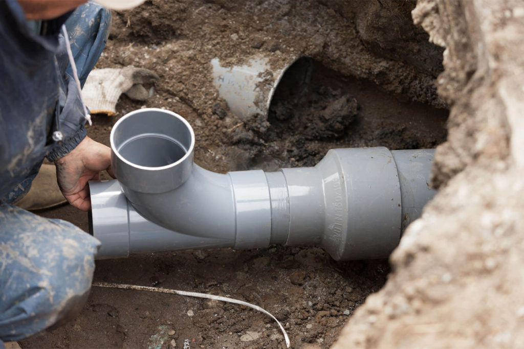 Sewer and water line installation